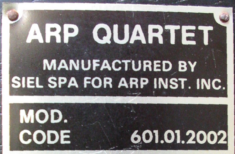 ARP Quartet label