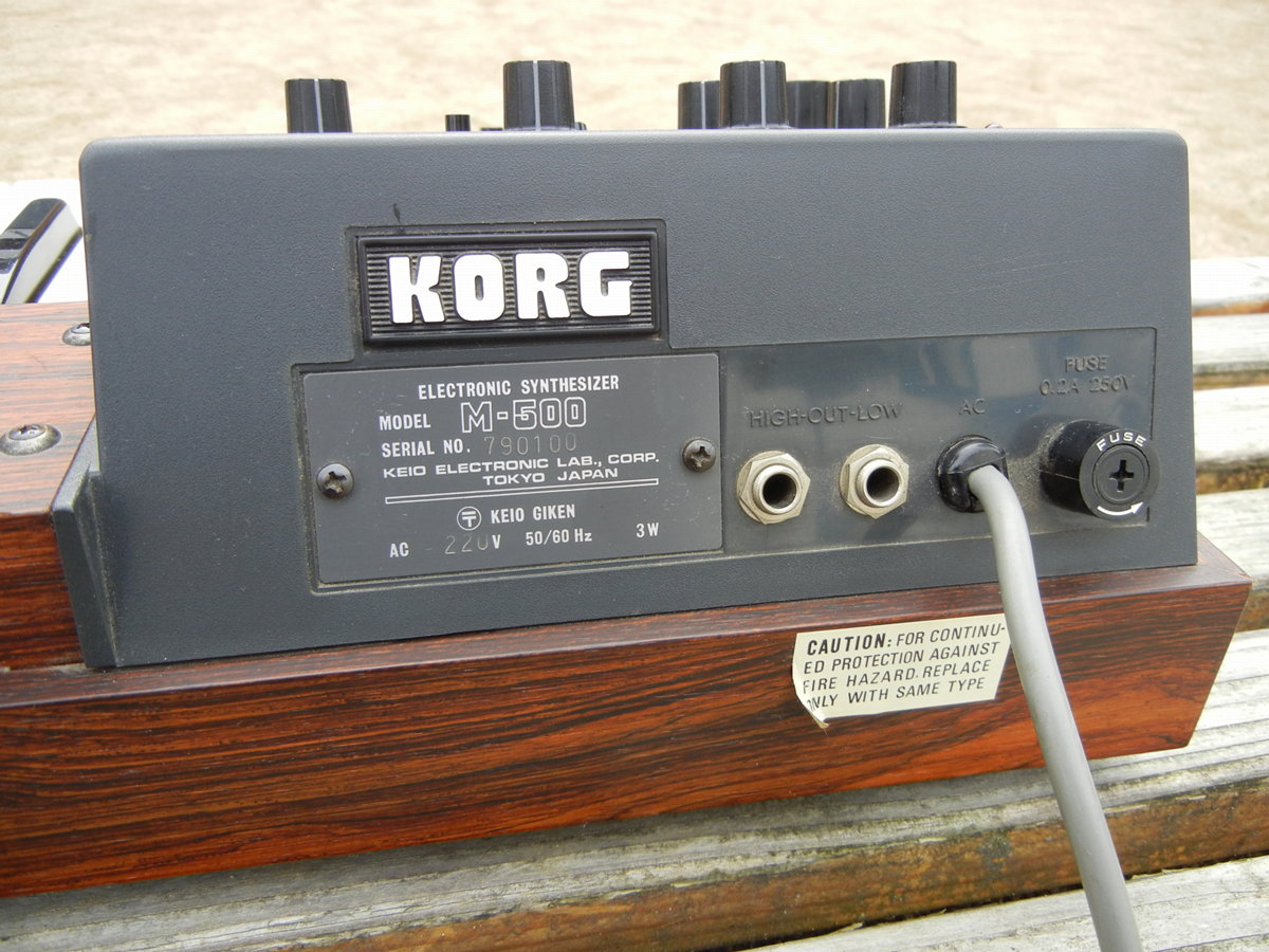 Korg Micro-Preset M500 / MP500 connectivity
