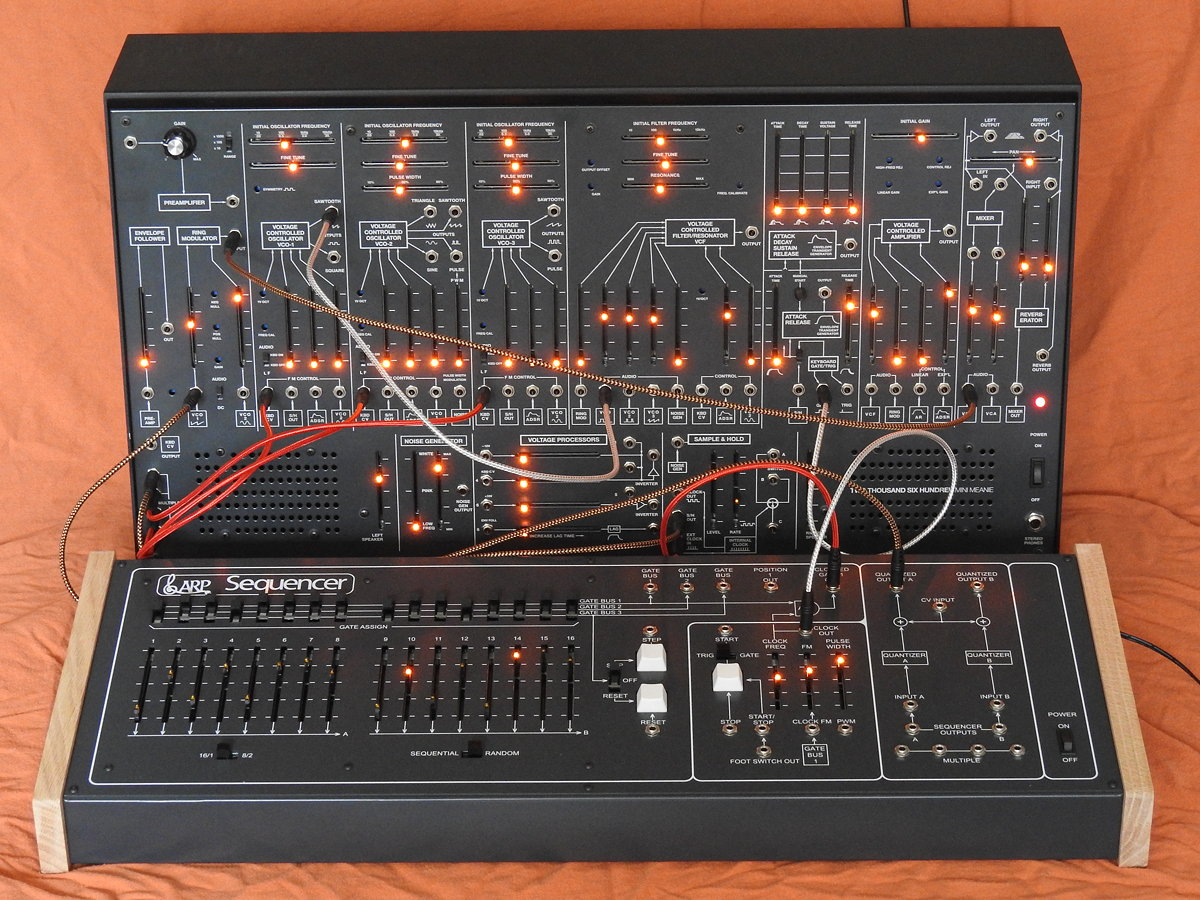 TTSH and the ARP 1601 Sequencer clone front panel