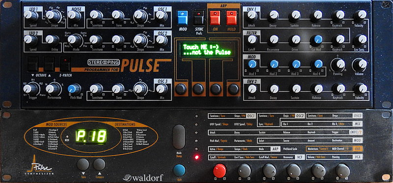 Waldorf Pulse and Stereoping Synth Programmer